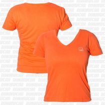 Koral Baby Look Punch T-shirt Naranja