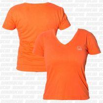 Koral Baby Look Punch T-shirt Laranja