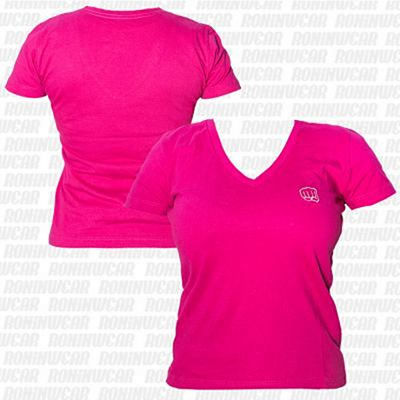 Koral Baby Look Punch T-shirt Rosa