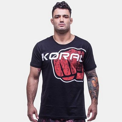 Koral Brand International T-shirt Nero-Rosso