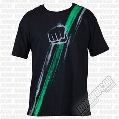 Koral Double Band T-shirt Negro-Verde