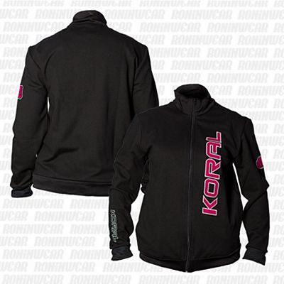 Koral Female Jacket Negro-Rosa