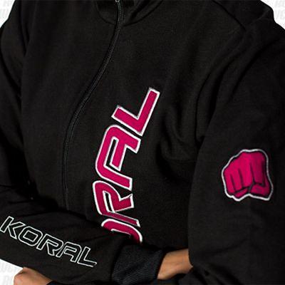 Koral Female Jacket Negro-Rosa