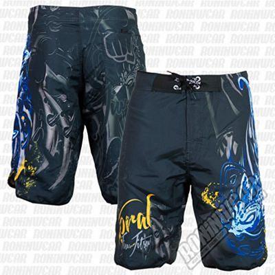Koral Fight Life Shorts Negro-Azul
