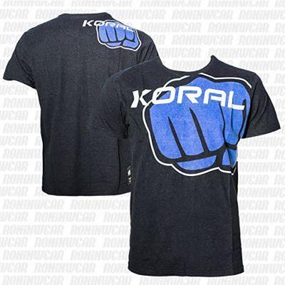 Koral Furious T-shirt Negro-Azul