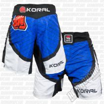 Koral MMA Cage Fight Shorts Blue
