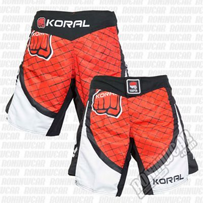 Koral MMA Cage Fight Shorts Rojo