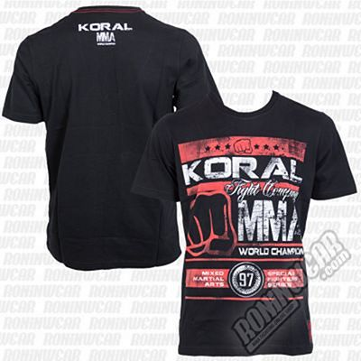 Koral MMA Champion T-shirt Negro