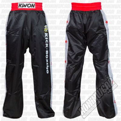 Kwon Kickboxing Satin Pants Schwarz