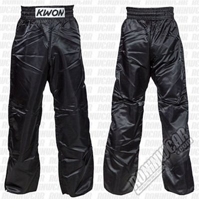 Kwon Satin Pants Nero