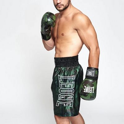 Leone 1947 AB221 Camo Boxing Shorts Green-Camo