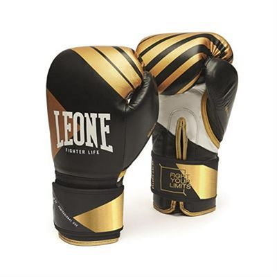 Leone 1947 Boxing Gloves Fighter Premiun Negro-Oro