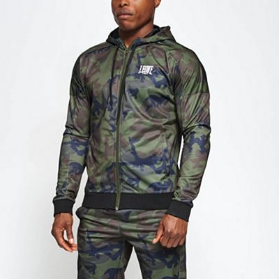Leone 1947 Camo Hooded Sweatshirt Green