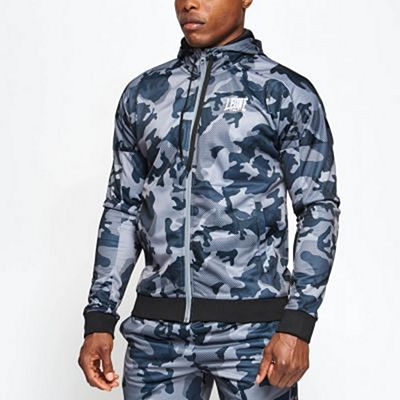Leone 1947 Camo Hooded Sweatshirt Grey