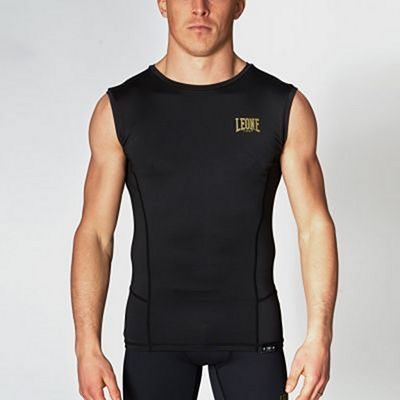 Leone 1947 Essential Compression Sleeveless Shirt Schwarz