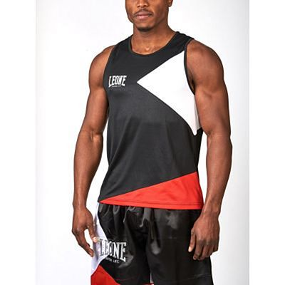 Leone 1947 Fighter Life Boxing Singlet Black-Red