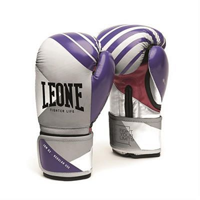 Leone 1947 Fighter Life Women Boxing Gloves Grey-Purple