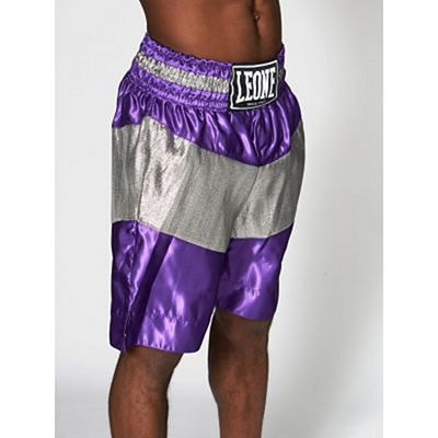 Leone 1947 Legend Boxing Shorts Lila-Silber