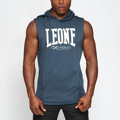 Leone 1947 Logo Hooded Sleeveless Sweatshirt Grey