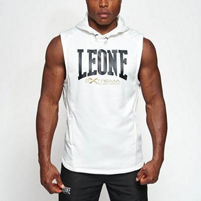 Leone 1947 Logo Hooded Sleeveless Sweatshirt White