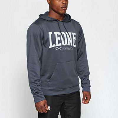 Leone 1947 Logo Hooded Sweatshirt Grey