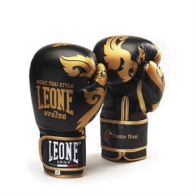 Leone 1947 Muay Thai Boxing Gloves Schwarz