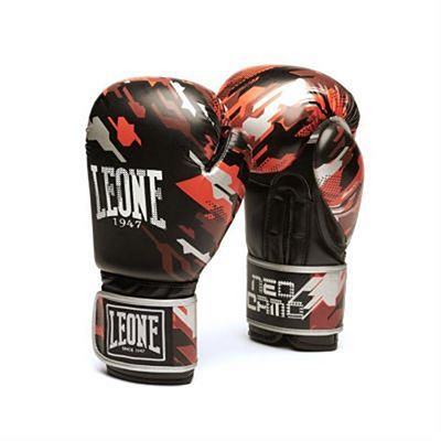 Leone 1947 Neo Camo Boxing Gloves Noir-Rouge