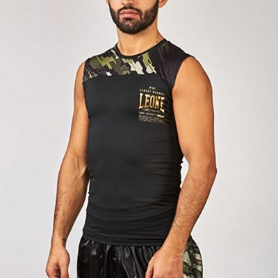 Leone 1947 Neo Camo Compression Sleeveless Shirt Nero-Verde