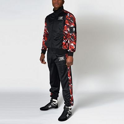 Leone 1947 Neo Camo Tracksuit Black-Red