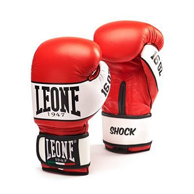 Leone 1947 Shock Boxing Gloves Rot-weiß