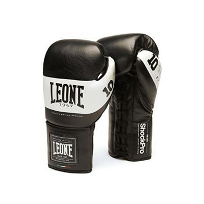 Leone 1947 Shock Pro Laces Boxing Gloves Schwarz