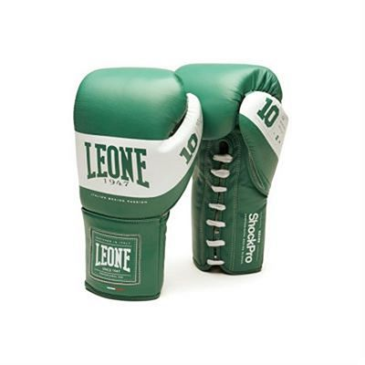 Leone 1947 Shock Pro Laces Boxing Gloves Grün