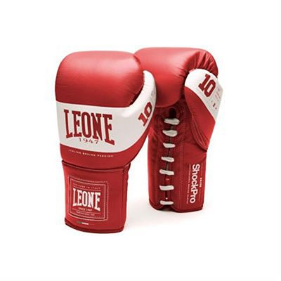 Leone 1947 Shock Pro Laces Boxing Gloves Red