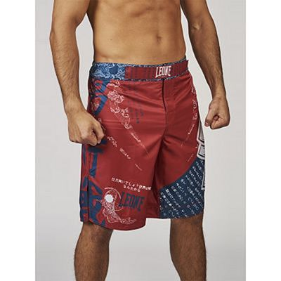 Leone Boxing MMA Shorts Mononofu Red-Blue