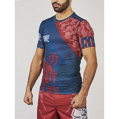 Leone Boxing Mononofu Rashguard Röd-Blå