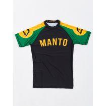 ManTo ARC S/S Rashguard Negro-Amarillo