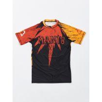 ManTo Devil S/S Rashguard Rojo-Amarillo