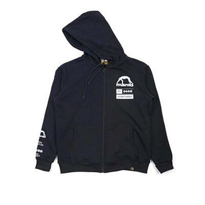 Manto Levels Zip Hoodie Noir-Blanc
