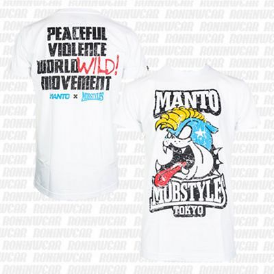 ManTo Mob T-shirt Blanco