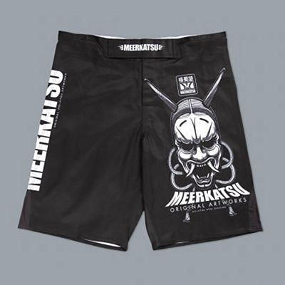 Meerkatsu Demon Mask IBJJF Shorts Black