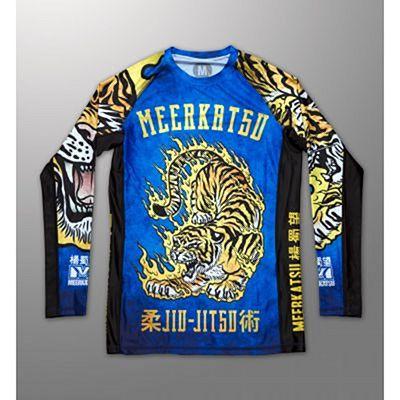 Meerkatsu Fire Tiger Rashguard Blau