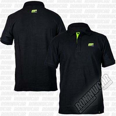 Muscle Pharm MPTS469 Classic Polo Shirt Fekete