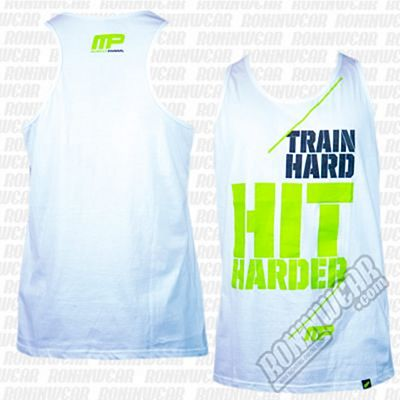 Muscle Pharm Hit Hard Vest White