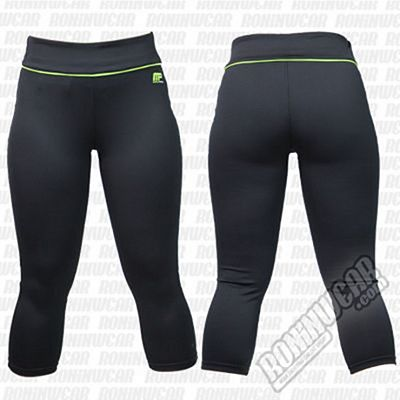 Muscle Pharm Ladies Capri Pants Negro-Verde