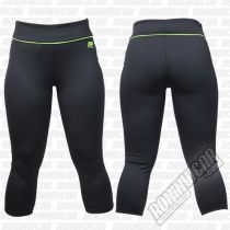 Muscle Pharm Ladies Capri Pants Preto-Verde
