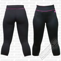 Muscle Pharm Ladies Capri Pants Preto-Rosa