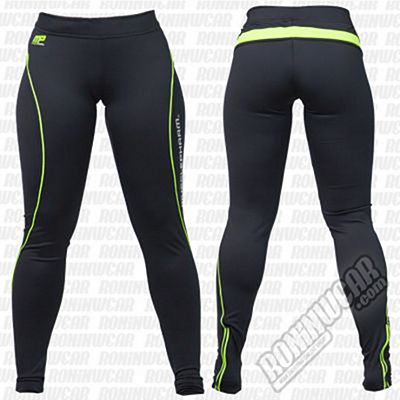 Muscle Pharm Ladies Leggings Negro-Verde