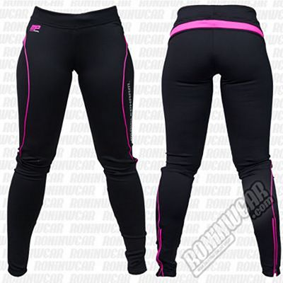 Muscle Pharm MPLPNT465 Ladies Leggings Negro-Rosa
