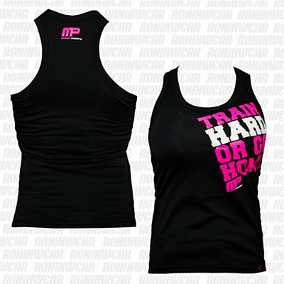 Muscle Pharm MPLVST489 Ladies Printed Vest Noir