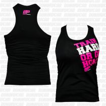 Muscle Pharm MPLVST489 Ladies Printed Vest Schwarz